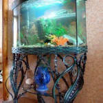 Wrought iron stands for aquarium